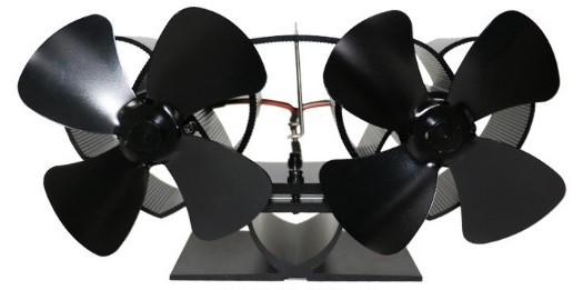 Krbový ventilátor (vrtule) dvouhlavý, černý