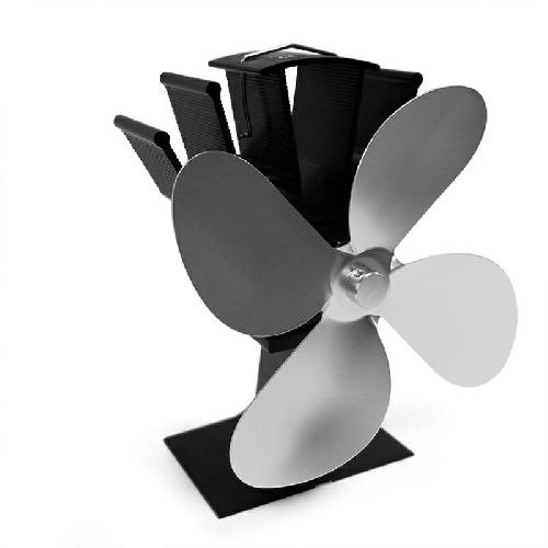 Krbový ventilátor (vrtule) čtyřlopatkový, stříbrný