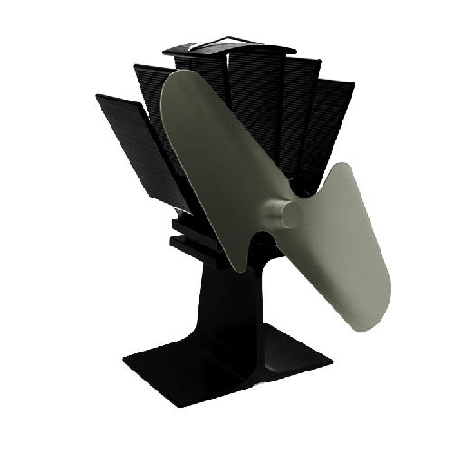 Krbový ventilátor (vrtule) dvoulopatkový, stříbrný