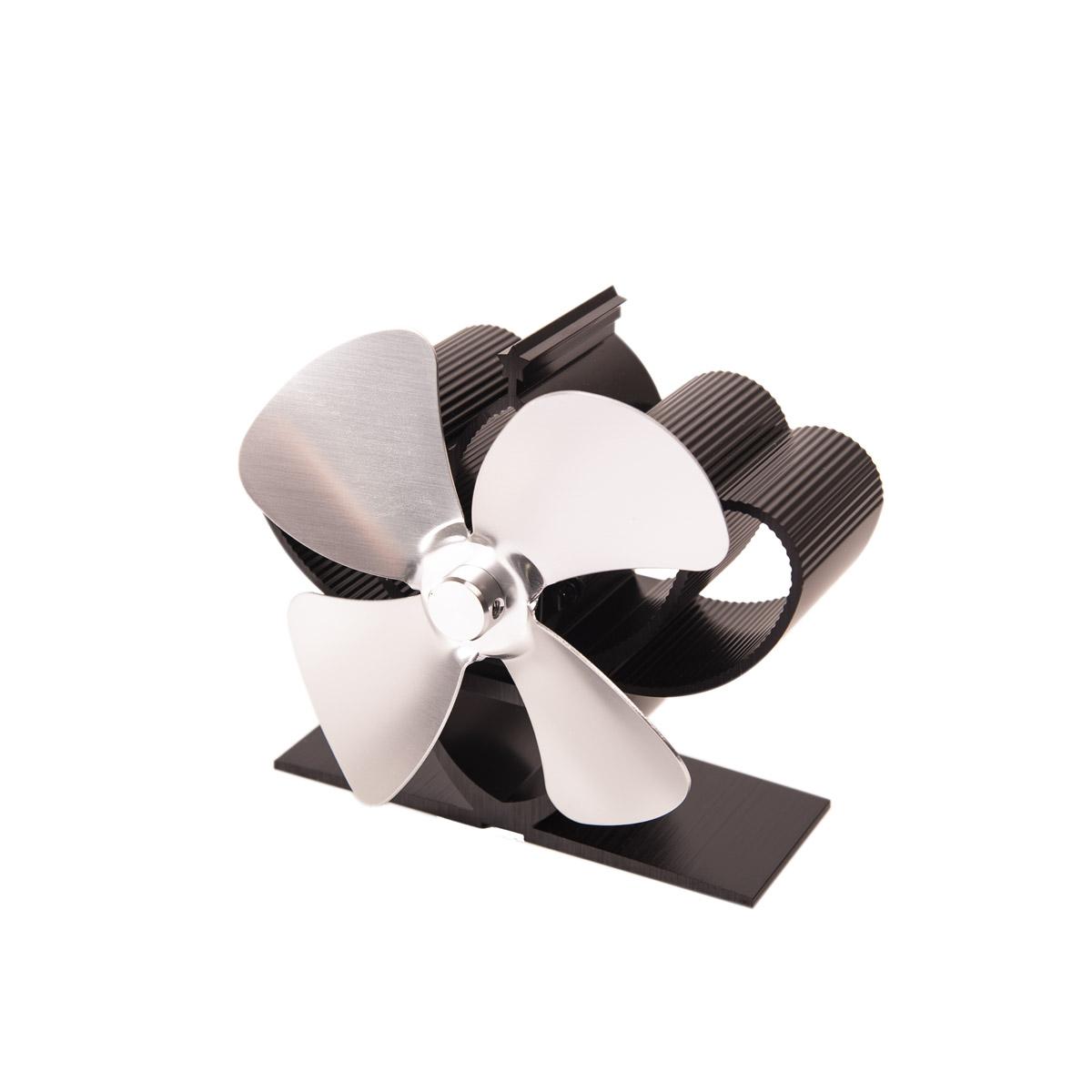Ventilátor na kamna FLAMINGO čtyřlopatkový MINI, stříbrný