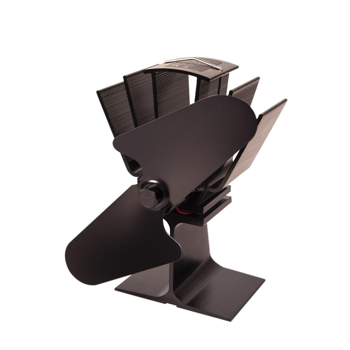 Ventilátor na kamna FLAMINGO dvoulopatkový, černý