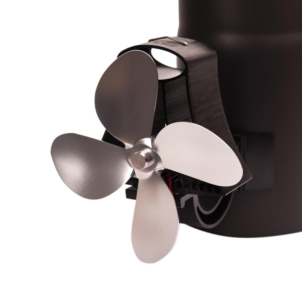 Ventilátor na kouřovod FLAMINGO čtyřlopatkový magnetický, stříbrný