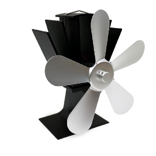 Krbový ventilátor (vrtule) pětilopatkový, stříbrný